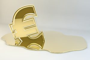 euro melting gold to show liquidity