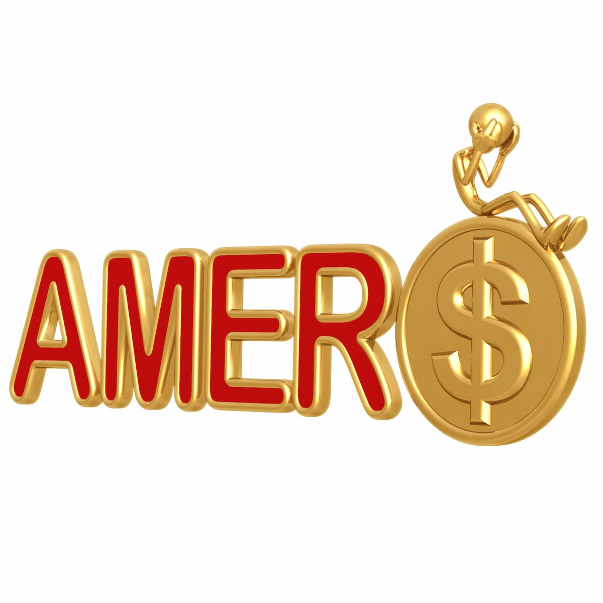 Amero Coin with dollar sign