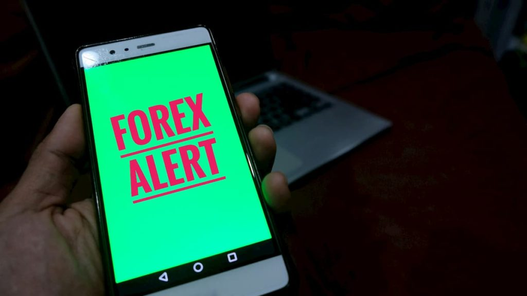 Forex alert on a mobile phone